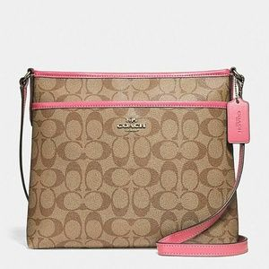 NWT Coach File Crossbody in Sig Coated Canvas